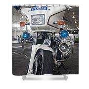 Police Honda Shower Curtain