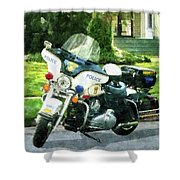 Police - Police Motorcycle Shower Curtain