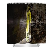 Police Tape Shower Curtain