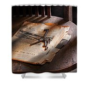 Police - The Wardens Keys Shower Curtain by Mike Savad