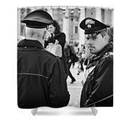 Policemen In Rome Shower Curtain