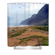 Polihale State Park Shower Curtain