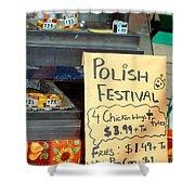 Polish Food Street Stand Shower Curtain