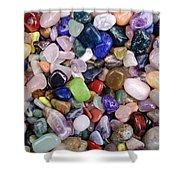 Polished Gemstones Shower Curtain