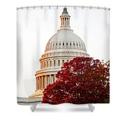 Politics Seeing Red Shower Curtain by Greg Fortier