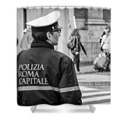 Polizia Roma Capitale Shower Curtain