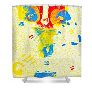 Polka Dot Bikini Shower Curtain