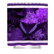 Polka Dot Butterfly Purple Shower Curtain