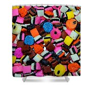 Polka Dot Colorful Candy Shower Curtain