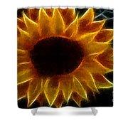 Polka Dot Glowing Sunflower Shower Curtain