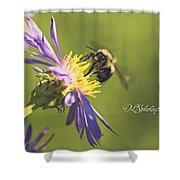 Pollination Shower Curtain