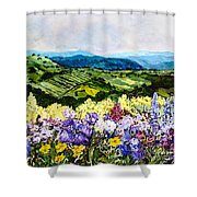 Pollinators Ravine Shower Curtain