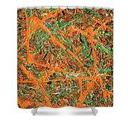 Pollock's Carrots Shower Curtain
