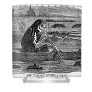 Pollution Thames River Shower Curtain