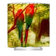 New Orleans Polly Wants Two Crackers At New Orleans Louisiana Zoological Gardens  Shower Curtain