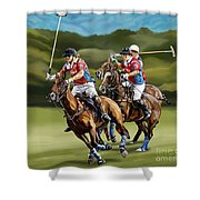 Polo Game Horses Shower Curtain