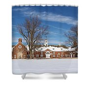 Polo Stables At Caumsett Shower Curtain