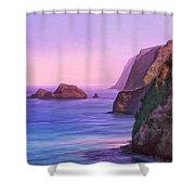 Pololu Valley Sunset Shower Curtain