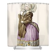 Polonoise, Engraved By Voysard, Plate Shower Curtain