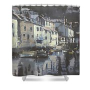 Polpero Cornwall England Shower Curtain