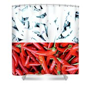Polska Pepperoni Shower Curtain