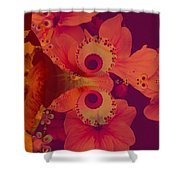 Polyanthus Spiral Shower Curtain by Nancy Pauling