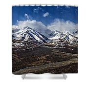 Polychrome Pass Shower Curtain