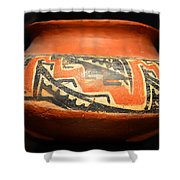 Polychrome Pottery 1100 Ad Shower Curtain