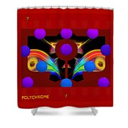 Polychrome Red Kimono Shower Curtain