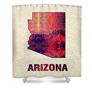 Polygon Mosaic Parchment Map Arizona Shower Curtain