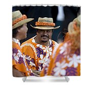Polynesian Musicians Shower Curtain