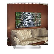 Polyptych Display Sample 02 Shower Curtain