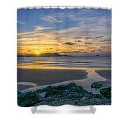Polzeath Sunset 3 Shower Curtain
