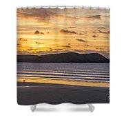 Polzeath Sunset 4 Shower Curtain