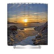 Polzeath Sunset Shower Curtain