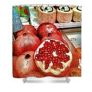 Pomegranates In Open Market Shower Curtain