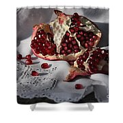 Pomegranate  Seed Shower Curtain