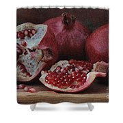 Pomegranate Seeds Shower Curtain