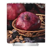 Pomegranates And Almonds Shower Curtain