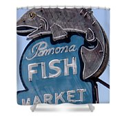 Pomona Fish Market Sign Shower Curtain