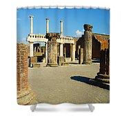 Pompeii In Ruins Shower Curtain