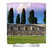 Pompeii Walls And Trees Shower Curtain