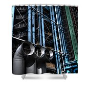 Pompidou Pipes Shower Curtain