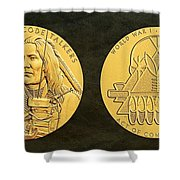 Ponca Tribe Code Talkers Bronze Medal Art Shower Curtain