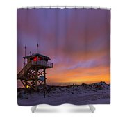 Ponce Inlet Beach Guard Tower Shower Curtain