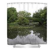 Pond And Bridge Shower Curtain