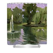 Pond At Fort Dent Tukwilla Shower Curtain