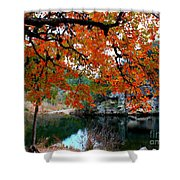 Fall At Lost Maples State Natural Area Shower Curtain