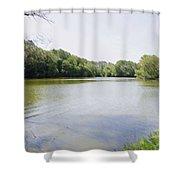 Pond At Norfolk Botanical Garden 9 Shower Curtain