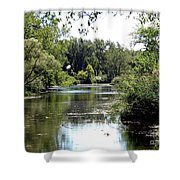 Pond At Tifft Nature Preserve Buffalo New York  Shower Curtain